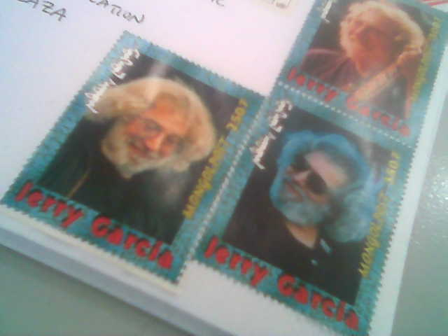 Jerry Garcia on  Mongol Stamps